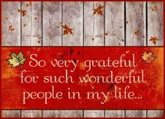 I am so grateful