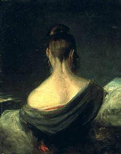 John Constable, Tête de jeune fille vue de dos, 1806