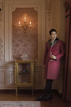 Very few guys could pull off this coat, which seems like it would be worn by a Russian of Chinese hit-man hiding a knife under it, but the ones that could will definitely turn heads.