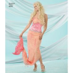 Simplicity Pattern 4043 Child's, Girls' & Misses' Mermaid Costumes Costume Patterns, Vintage Wardrobe, Simplicity Sewing Patterns, Cosplay Wigs, Kids Girls, Knit Dress, Two Piece Skirt Set, Mermaid Costumes, How To Wear
