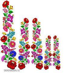 KALOCSAI MINTA Chain Stitch Embroidery, Learn Embroidery, Embroidery Stitches, Embroidery Patterns, Hand Embroidery, Butterfly Embroidery, Floral Embroidery, Hungarian Embroidery, Vintage Embroidery