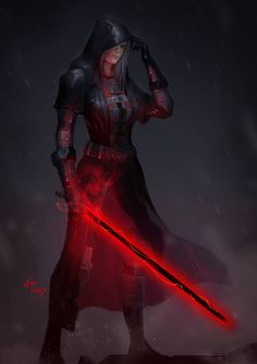 Star Wars Pictures, Star Wars Images, Cool Pictures, Star Wars Sith, Star Wars Rpg, Star Trek, Female Sith, Apocalypse Character, Rain Art