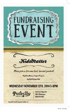 KidsMatter is a Naperville not-for-profit organization. Fundraising Events, Fundraising Ideas, Charity Event, Bake Sale, Non Profit, How To Raise Money, Encouragement, Kids, Young Children