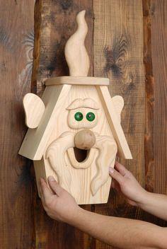 Vögel - Holz Starkasten mit Futtertrog für Vögel - ein Designerstück von Tierbedarf bei DaWanda