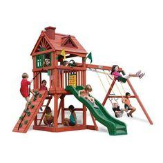 Gorilla Playsets Nantucket Residential Wood Playset With 2 Swings 10021