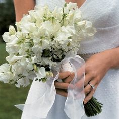 Bridal Bouquet with sweat peas