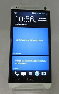 "HTC One 4G LTE 32GB White HTC6500L Verizon 4.7"" CLEAN ESN Mint Condition"
