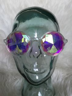Kaleidoscope glasses clear by Cashmerejunky on Etsy