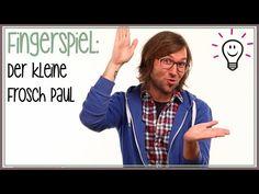 Fingerspiele: Der kleine Frosch Paul (Kinderreime)   mit herrh - YouTube