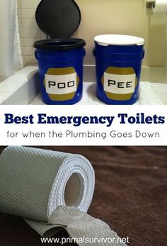 Composting Hacks Your 3 Best Emergency Toilet Options for When the Plumbing Goes Down. Discusses the options for toilets after a disaster situation. Emergency Preparedness Kit, Emergency Preparation, Emergency Supplies, Survival Prepping, Survival Gear, Survival Skills, Survival Supplies, Survival Quotes, Emergency Planning