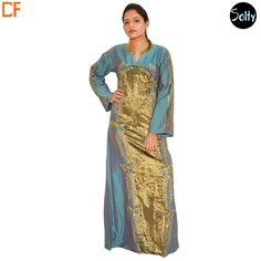 This lightweight sheer piece is exactly what is required to beat the summer heat. In the summer choose a lighter fabric, such as georgette, silk or cotton, choose some great long wooden beads to achieve that perfect casual tribal look. http://www.droomfashion.com/shop/kaftans/blue-and-gold-silk-kaftan/