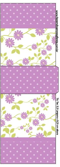 Rótulo Tic Tac Floral Lilás: