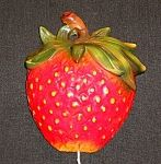 "This beautiful and rare ""Strawberry"" String Holder measures 6 1/2"" high and is made of chalk. It is from the 1950's and is in very good condition - with no chips or cracks. It still has its original wire hanger on the back for hanging on the wall.  All of its paint is original also!   This remarkable string holder would be a great addition to any string holder collection! This string holder, like all of the other string holders we offer, is an original and not a reproduction. ""Click"" on the…"