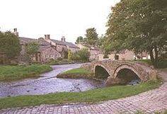 Pack Horse Bridge in Wycoller. (Those familiar with the Bronte Carpets logo may recognise this)