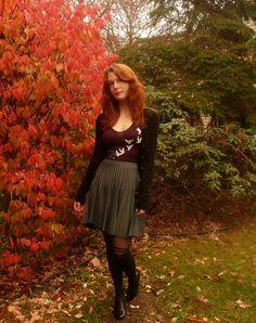 Accordion to You Skirt in Stone | Mod Retro Vintage Skirts | ModCloth.com