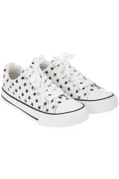 Stars Print Canvas Shoes