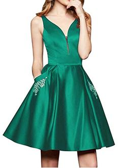 Shop a great selection of Rjer V Neck Homecoming Dresses Pockets Short A line Satin Prom Evening Ball Gowns. Find new offer and Similar products for Rjer V Neck Homecoming Dresses Pockets Short A line Satin Prom Evening Ball Gowns. Dresses Short, A Line Prom Dresses, Long Bridesmaid Dresses, Homecoming Dresses, Party Dresses, Satin, Cocktail Gowns, Ball Gowns, Pockets