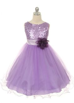 c20123933 Lilac Sequin Bodice Mesh Girl Dress Lavender Flower Girl Dress, Lavender  Dresses, Lavender Flowers