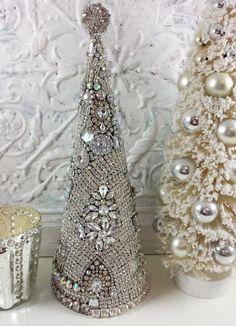 Ms Bingles Vintage Christmas: Rhinestone Mermaid, Rhinestone Santa, Rhinestone Tree, Oh my!