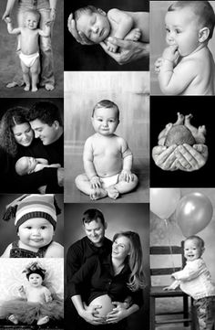 first year baby collage