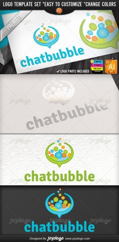 Social Media Applications Bubble Chat Logo Template