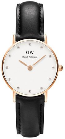 Daniel Wellington Classy Sheffield Rose Gold and Leather Strap Watch, 26mm