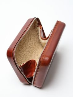 The Maison Martin Margiela 11 Men's Leather Travel Case for autumn/winter '11, seen here in camel.
