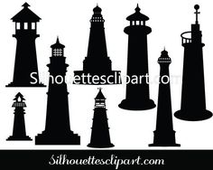 Lighthouse Silhouette Vector