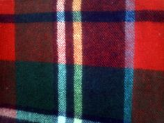 Vintage Troy Plaid Wool Blanket Throw 58 x 50 by melampode on Etsy, $40.00