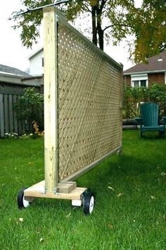 Privacy Screen by Gary J Wood - Decorative, movable privacy screen. Attach large planter box with climbing flowers. Privacy Screen by Gary J Wood - Decorative, movable privacy screen. Attach large planter box with climbing flowers. Backyard Projects, Outdoor Projects, Backyard Patio, Garden Projects, Backyard Landscaping, Outdoor Decor, Landscaping Ideas, Privacy Ideas For Backyard, Pergola Ideas