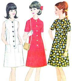 1960s Dress Pattern McCalls 8710 Mod A Line by paneenjerez on Etsy, $12.00