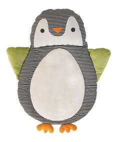 Look at this Lolli Living Black Penguin Play Mat on #zulily today!