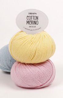 "Pour ma ""robe russe"" - environ 12 pelotes - Nuancier de DROPS Cotton Merino ~ DROPS Design"