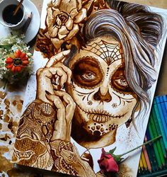 Stunning Coffee Paintings by Spanish Artist Nuriamarq