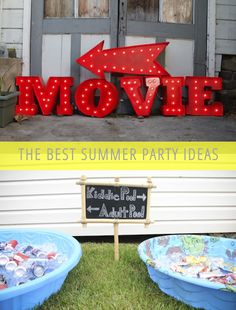 The Best Summer Party Ideas-like the use of the  kiddie pools