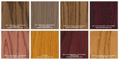 General Finishes Pro Floor Stain® Color Swatch / Chart for Hardwood Flooring Types Of Wood Flooring, Hardwood Floors, Floor Stain Colors, Paint Color Swatches, Red Paint Colors, Pure White, General Finishes, Pure Products, Chart