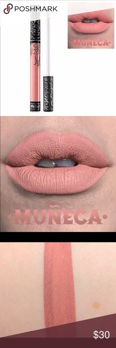 Kat Von D - Muneca Liquid Lipstick!  Brand New!  Beautiful, natural nude! Authentic!  Gifts with Purchase!!  New- only opened to show color in pic for this listing* Kat Von D Makeup Lipstick
