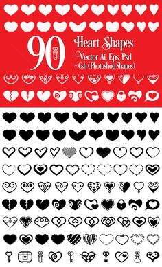 26 Photoshop Shapes, Cool Photoshop, Photoshop Elements, Project Yourself, Summer Activities, Summer Collection, Design Elements, Heart Shapes, Presentation