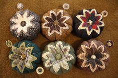 I really like these wool pincushions
