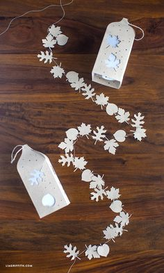 Mini Paper Leaf Garland
