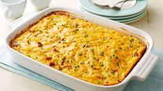 Overnight Country Sausage and Hash Brown Casserole - Everything you love about the All-American breakfast—eggs, hash browns and sausage—gets packed into an amazing, cheesy casserole the whole family w (American Breakfast Recipes) Overnight Breakfast Casserole, Make Ahead Breakfast, Breakfast Dishes, Breakfast Recipes, Breakfast Bake, Brunch Recipes, Fun Recipes, Morning Breakfast, Easter Recipes