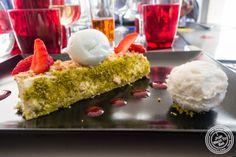 image of croquant coco dessert at Les Jardins de Sainte-Cécile in Grenoble, France