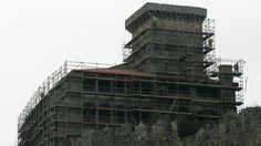 #andamios en el Castillo de Monterrey, Galicia, España