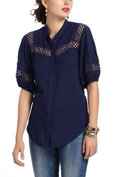 Cute blue blouse