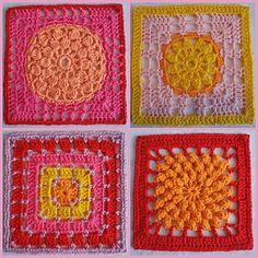 Sunshine blanket (see http://karinaandehaak.blogspot.com/2010/03/sunshine-blanket-en-baby-dekentje.html?m=1)