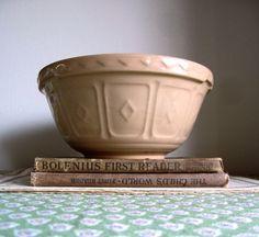 Vintage Mason Cash Yellow Ware Mixing Bowl by RushCreekVintage, $45.00