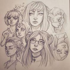 Another page from my sketchbook :-), #drawing #sketchbook #art #instaart #artofinstagram #portrait #improvement #photoshop #painting #progress #pencildrawing #doodle #digitalart #illustration