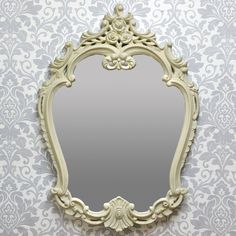 French Style Ornate Cream Wall Mirror