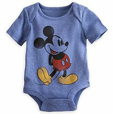 Mickey Mouse Disney Cuddly Bodysuit for Baby   Disney StoreMickey Mouse Disney Cuddly Bodysuit for Baby - Mickey strikes his classic pose on this Disney Cuddly Bodysuit. Lapped shoulders and Grow-An-Inch Snaps will make it easy to put on and provide lasting comfort, while Mickey will provide company everywhere they go.
