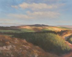 Landscape over Brunton- Contemporary Artist Ken Bushe. Some lovely pieces on his website!